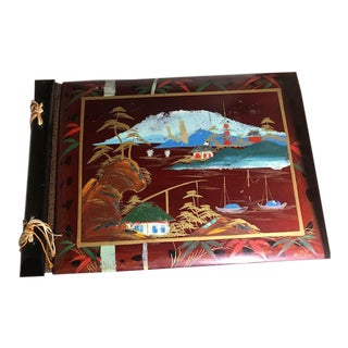 Red Lacquer Inlaid With Mother of Pearl Album For Sale