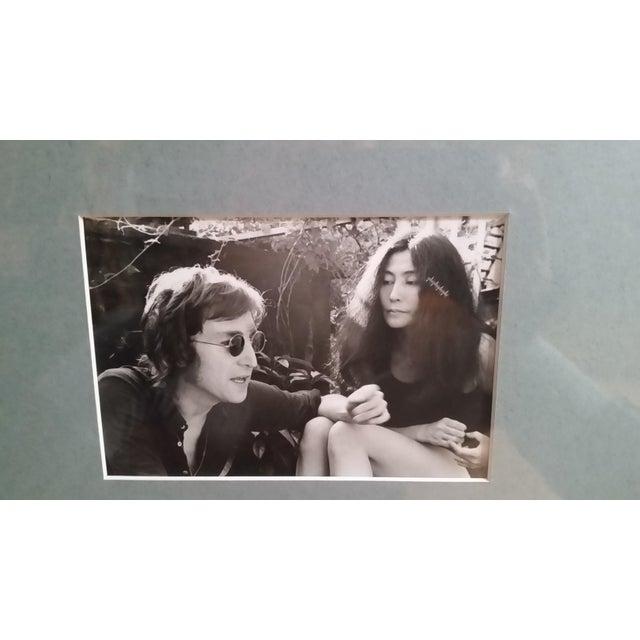 Contemporary 1972 Vintage John Lennon & Yoko Ono Triptych B & W Gel Photographs For Sale - Image 3 of 10