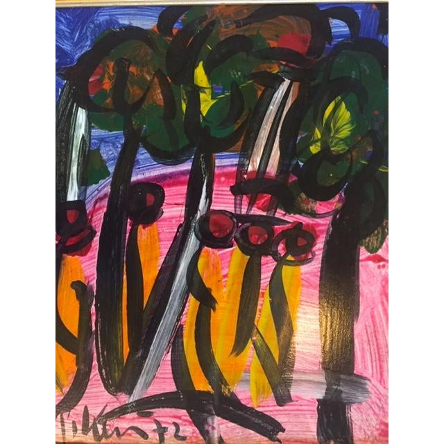 Mid-Century Modern Peter Keil Painting 1972 For Sale - Image 3 of 4