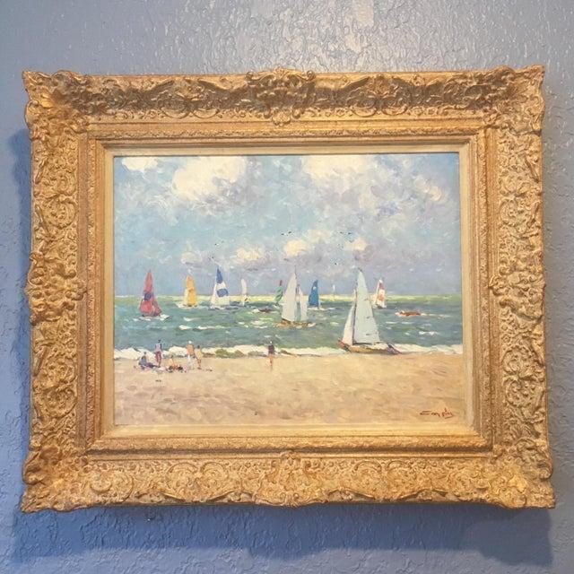 Regatta Niek Van Der Plas Framed Painting For Sale In Miami - Image 6 of 6