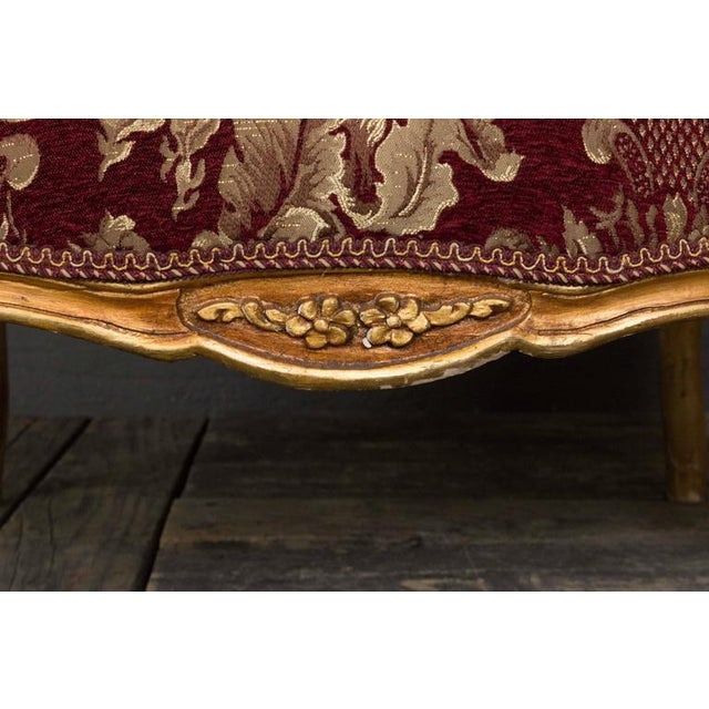 Textile Gilt Rococo Style Marquise For Sale - Image 7 of 10