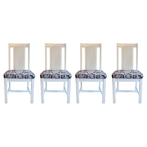Cane Back Dining Chairs - Set of 4 - Image 1 of 7