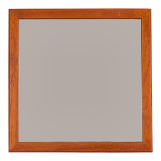 Aksel Kjersgaard Danish Minimalist Teak Wall Mirror For Sale