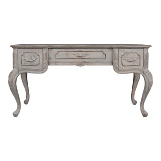 Traditional Louis XV-Style Distressed Finish Desk For Sale