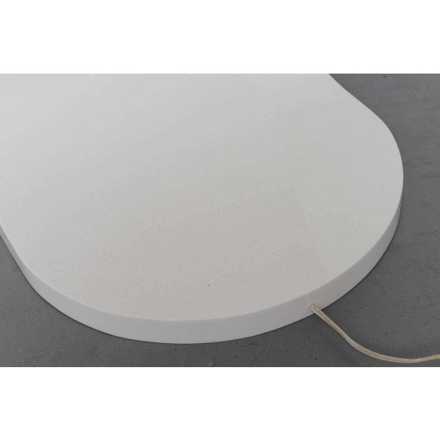 Silver White Lacquer Floor Lamp with Tray 1970s For Sale - Image 8 of 10