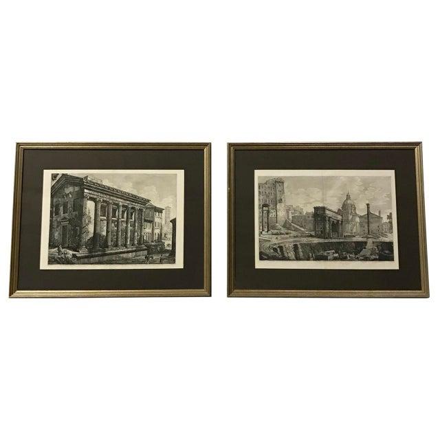 18th Century Italian Piranesi Engravings - a Pair For Sale In Atlanta - Image 6 of 6