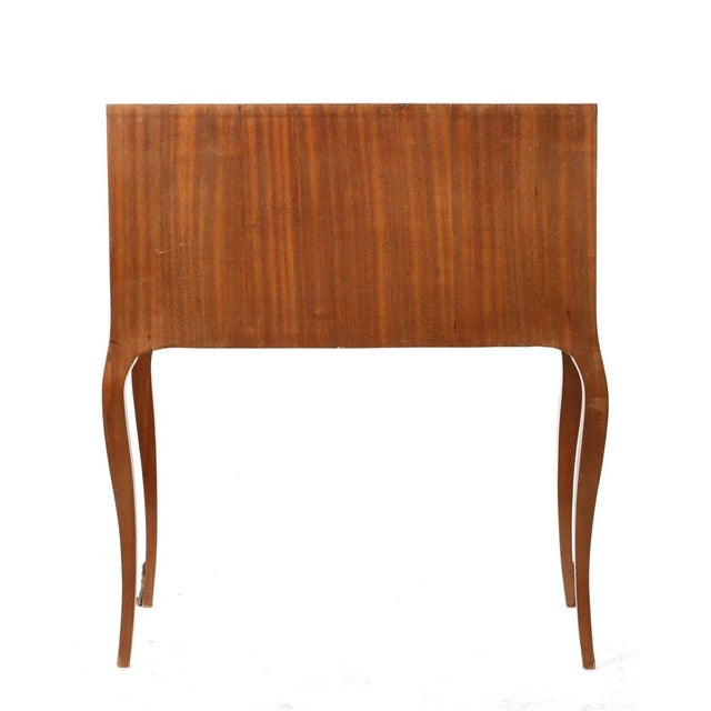 Early 20th Century Louis XV/XVI Transitional Style Parquetry Inlaid Walnut Cylinder Desk For Sale - Image 4 of 5