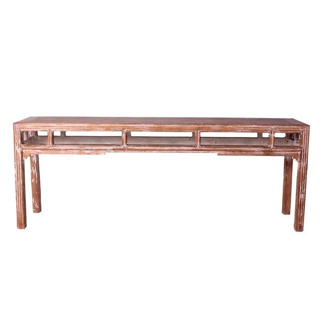 Sarreid LTD Distressed Altar Table - Image 1 of 3
