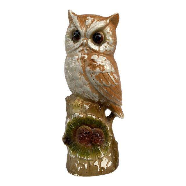 Vintage Mid 20th Century Owl Figurine For Sale