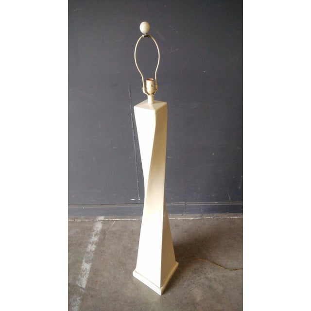Metal 1980's Twisted Modern Floor Lamp For Sale - Image 7 of 11