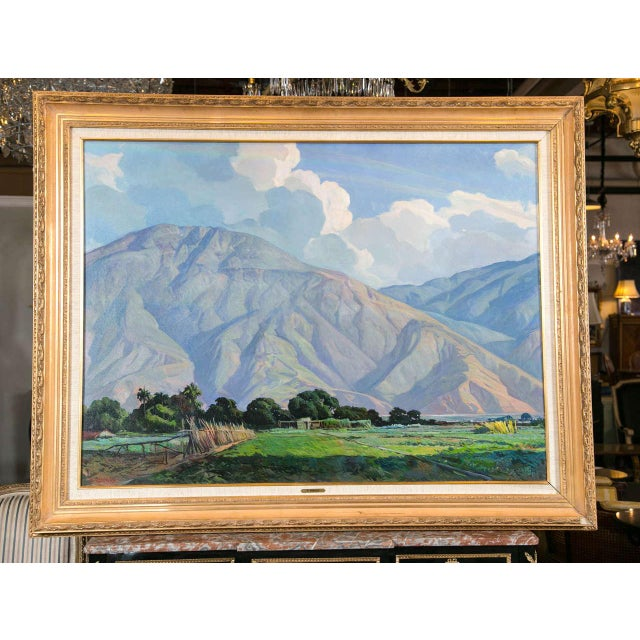 Listed Artist, Francis Vadillo painting. Provenance is Doyle's NY. Framed beautifully, depicting a mountainous landscape...