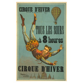 Winter Circus- Print of 1800s French Circus Poster For Sale