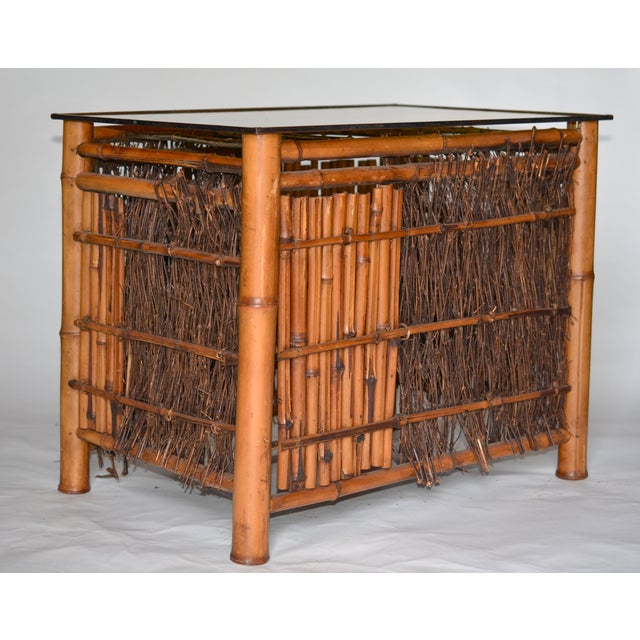 Antique Japanese Bamboo Table For Sale In Los Angeles - Image 6 of 8