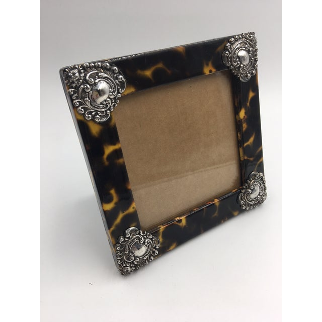Contemporary Contemporary Linda Levinson Faux Tortoise Photo Frame For Sale - Image 3 of 9