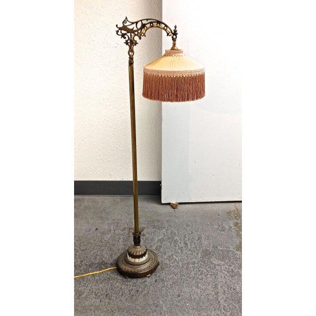 Antique 1930's Bronze Floor Lamp - Image 2 of 8