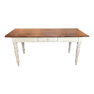 French-Style Rustic Farm Dining Table