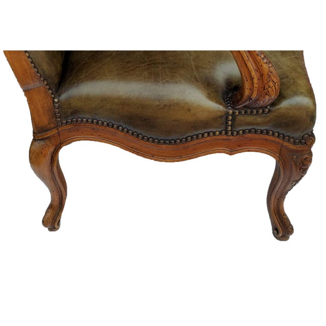 Early 19th Century French Bergere a Les Orvilles in Louis XIV Style For Sale - Image 5 of 7