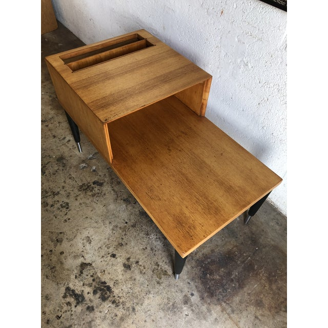 Raymond Loewy Vintage Mid Century Modern Phone Table by Raymond Loewy for Mengel Furniture For Sale - Image 4 of 13