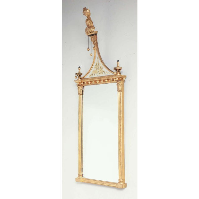 Gold Pair of Federal Pier Mirrors For Sale - Image 8 of 10