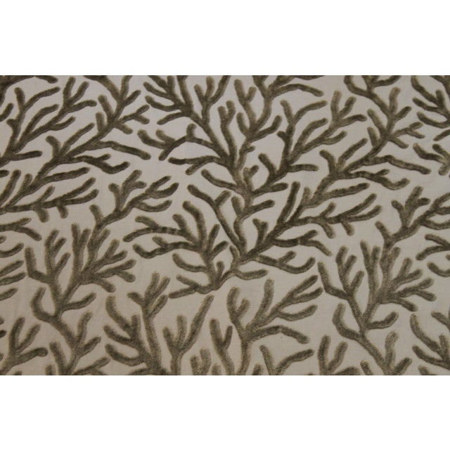 Brunschwig & Fils Brunschwig and Fils Reef Figured Velvet Fabric-3yds For Sale - Image 4 of 10