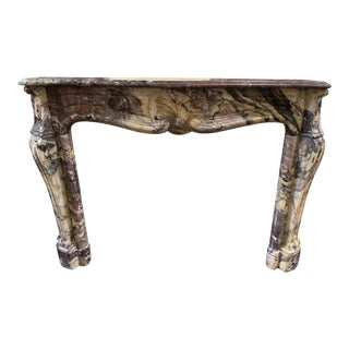 19th Century Breche Violet Marble Mantel For Sale