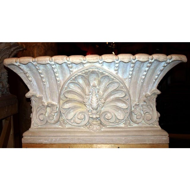 Very fine classical planter in concrete, copied from an antique, pair available