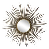 Image of Chaty Vallauris Sunburst Convex Metal Mirror For Sale