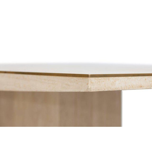 1970s Willy Rizzo Travertine Dining Table For Sale - Image 5 of 8