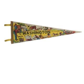 Vintage Washington New Hampshire Felt Flag Pennant