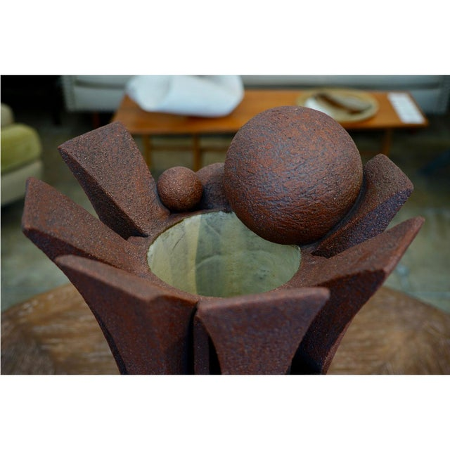 Metal Apex Sphere Vessel by Titia Estes For Sale - Image 7 of 9