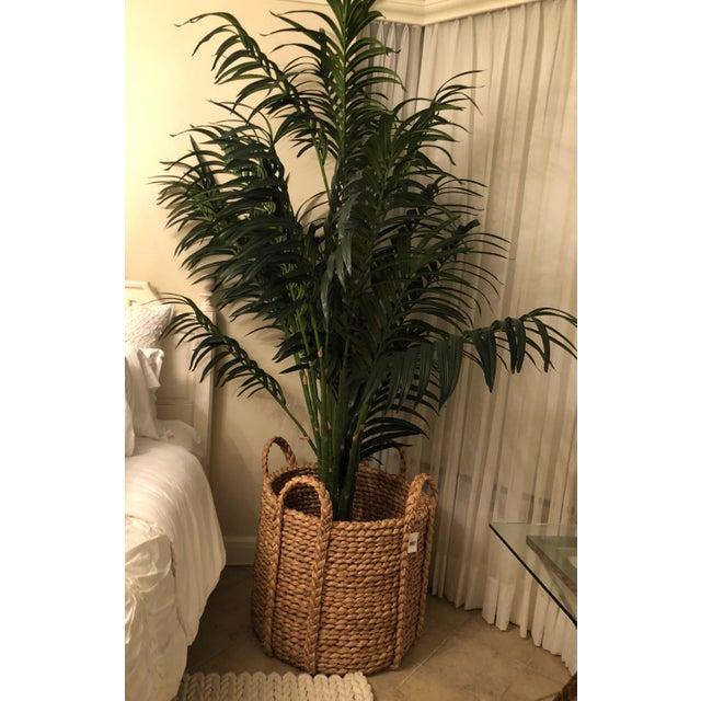 2010s Ralph Lauren Silk Palm & Basket For Sale - Image 5 of 6