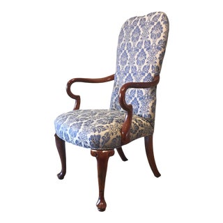 Queen Anne Style Accent Chair For Sale