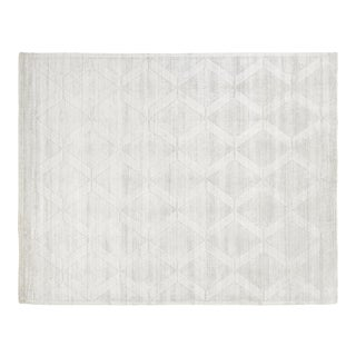 Exquisite Rugs Chesterfield Hand Loom Bamboo Silk Ivory - 10'x14' For Sale