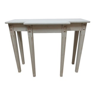 Swedish Gustavian 6 Leg Console Table For Sale