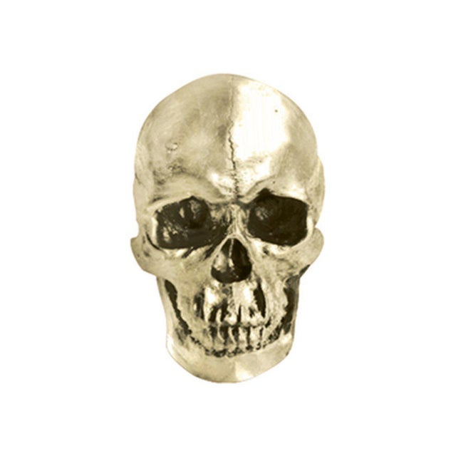 Boho Chic Life Size Faux Human Skull For Sale - Image 3 of 3