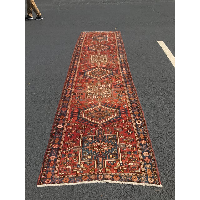 "Vintage Persian Karajeh Runner - 3'1"" x 11'6"" - Image 8 of 10"