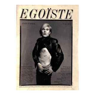 Egoïste Andy Warhol No 10 Book For Sale