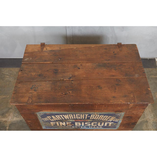 Americana Large Crate with Advertising For Sale - Image 3 of 8