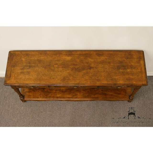 Late 20th Century Late 20th Century Vintage Hickory Manufacturing French Oak Console Table For Sale - Image 5 of 13