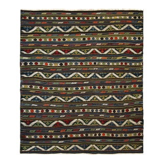 Mid-Century Turkish Kilim | 4'5 X 5' For Sale