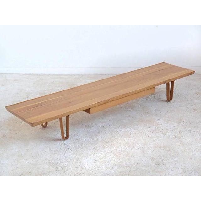 Edward Wormley Long John Bench/ Table by Dunbar - Image 5 of 9
