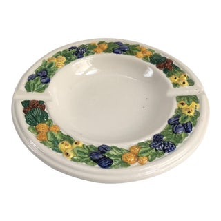 Vintage Italian Della Robbia Style Ashtray For Sale