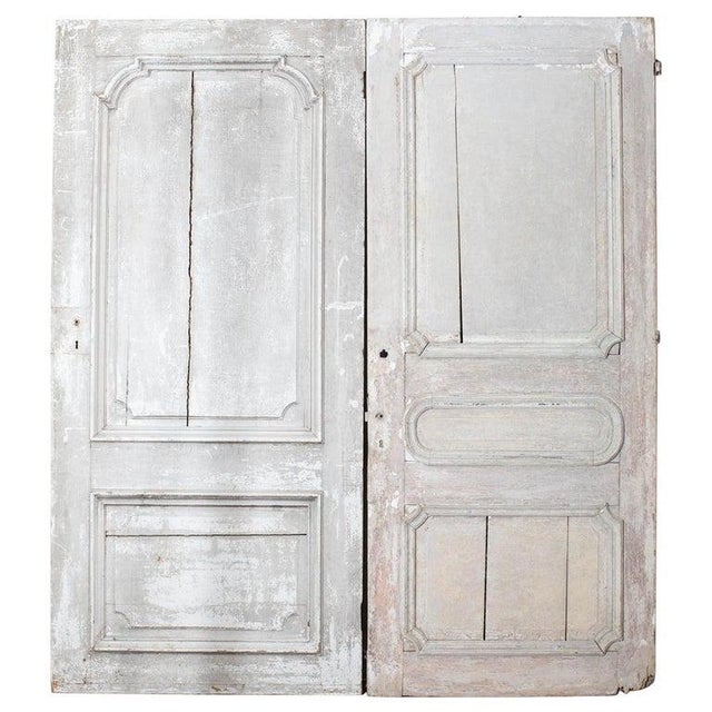 Rustic Pair of 19th Century French Painted Panel Doors For Sale - Image 13 of 13