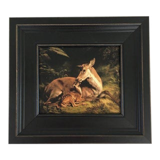 Framed Deer Painting