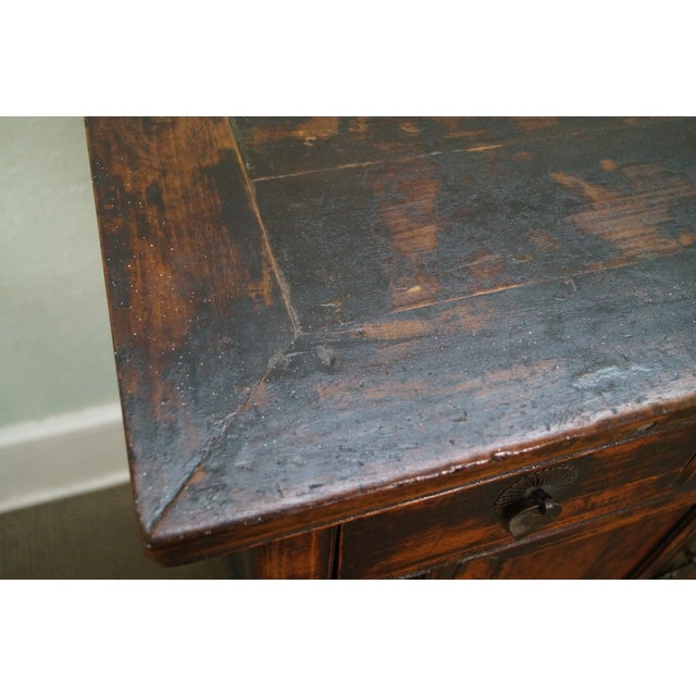 Rustic Chinese Console with Drawers - Image 5 of 10