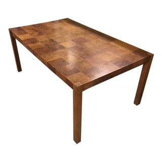 Milo Baughman Mid-Century Modern Burlwood Dining Table For Sale