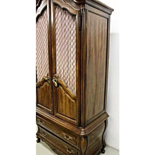 Carlton House French Louis XV Style Mahogany Armoire Cabinet - Image 4 of 11
