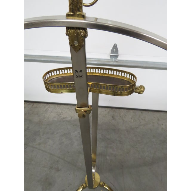 Gold Italian Chrome and Brass Gentleman's Valet For Sale - Image 8 of 9