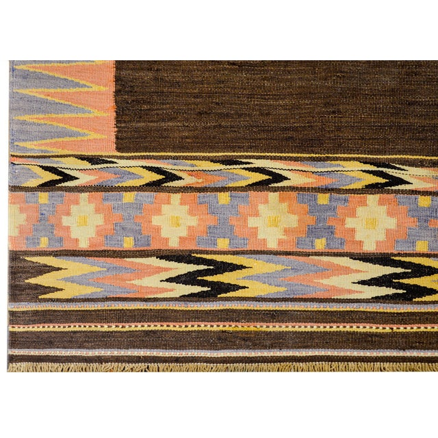 Early 20th Century Shahsevan Kilim Rug For Sale In Chicago - Image 6 of 9