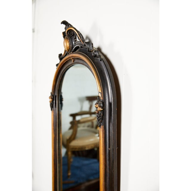 French Ebonized and Gilded Wall Mirror, Circa 1900 For Sale - Image 9 of 11